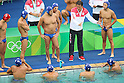 Japan team group (JPN), <br /> AUGUST 12, 2016- Water Polo : <br /> Men's Preliminary Round group A<br /> match between Hungary - Japan <br /> at Maria Lenk Aquatic Centre <br /> during the Rio 2016 Olympic Games in Rio de Janeiro, Brazil. <br /> (Photo by Koji Aoki/AFLO SPORT)