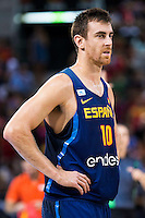 Spain's basketball player Victor Claver during the  match of the preparation for the Rio Olympic Game at Madrid Arena. July 23, 2016. (ALTERPHOTOS/BorjaB.Hojas) /NORTEPHOTO.COM