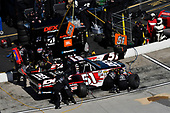 Harrison Burton, Kyle Busch Motorsports, Toyota Tundra DEX Imaging , makes a pit stop.