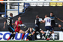 Stuart Beavon of Preston's shot is blocked by Jimmy Smith of Stevenage<br />  - Preston North End v Stevenage - Sky Bet League One - Deepdale, Preston - 14th September 2013. <br /> © Kevin Coleman 2013