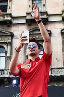 Milano 04/09/2019 Piazza Duomo 90 years of Scuderia Ferrari . 90 Anni di Emozioni <br /> Photo Daniele Buffa/Image Sport / Insidefoto <br /> Charles Leclerc