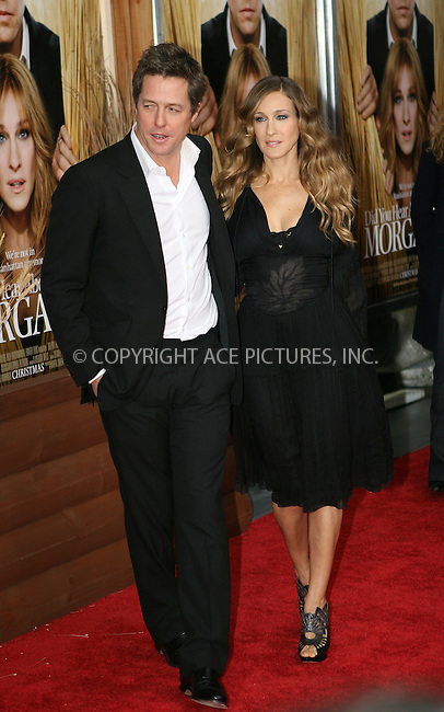 WWW.ACEPIXS.COM . . . . .  ....December 14 2009, New York City....Actors Hugh Grant and Sarah Jessica Parker at the premiere of 'Did you hear about the Morgans?' at the Ziegfeld Theatre on December 14 2009 in New York City....Please byline: NANCY RIVERA- ACEPIXS.COM.... *** ***..Ace Pictures, Inc:  ..Tel: 646 769 0430..e-mail: info@acepixs.com..web: http://www.acepixs.com