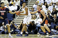 BERKELEY, CA - December 21, 2016: Cal Bears Women's Swimming team vs. the Virginia Cavaliers at Haas Pavilion.  Final score, Cal Bears 52, Virginia Cavaliers 56.