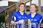 Colaiste na Sceilge's Megan O'Connell on the left who captained the Munster Girls side to victory last Saturday in the first ever Post Primary Schools Inter-provincial competition held in Kinnegad, pictured here with team mate Anna Galvin.