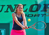 Netherlands, Amstelveen, August 23, 2015, Tennis,  National Veteran Championships, NVK, TV de Kegel,  Lady's single final 45+ years: Eveline Hamers<br /> Photo: Tennisimages/Henk Koster