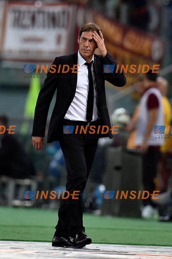 Rudi Garcia, allenatore della AS Roma.<br /> Roma 19-08-2014 Stadio Olimpico. Football Calcio 2014/2015.Incontro amichevole AS Roma - Fenerbahce. Foto Antonietta Baldassarre / Insidefoto