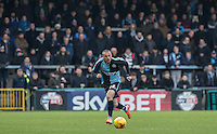 Michael Harriman of Wycombe Wanderers in action during the Sky Bet League 2 match between Wycombe Wanderers and Bristol Rovers at Adams Park, High Wycombe, England on 27 February 2016. Photo by Andrew Rowland.