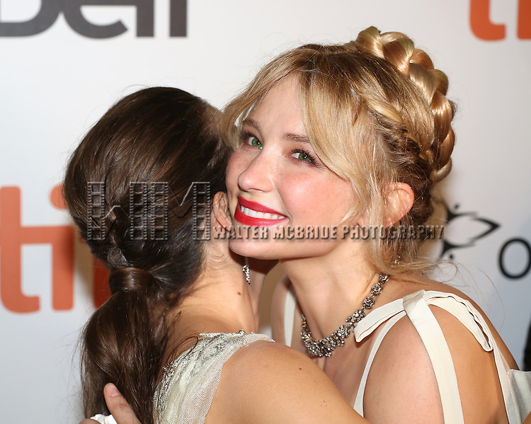 Alix Angelis and Haley Bennett attends 'The Magnificent Seven' Red Carpet Gala Opening Night of the 2016 Toronto International Film Festival at TIFF Bell Lightbox on September 8, 2016 in Toronto, Canada.