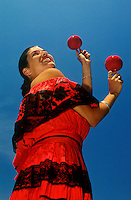 Mexican woman in traditional dress.