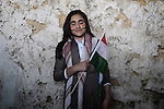 20/03/15 -- Akre, Iraq -- Sebar Salah Kareem, 14, from Akre dressed in traditional clothes to celebrate Newroz