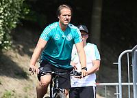 Assistenztrainer Thomas Schneider (Deutschland Germany) auf dem Fahrrad - 26.05.2018: Training der Deutschen Nationalmannschaft zur WM-Vorbereitung in der Sportzone Rungg in Eppan/Südtirol
