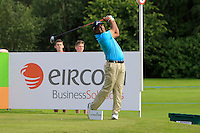 Shiv Kapur (IND) on the 10th tee during Round 2 of the Irish Open at Fota Island on Friday 20th June 2014.<br /> Picture:  Thos Caffrey / www.golffile.ie