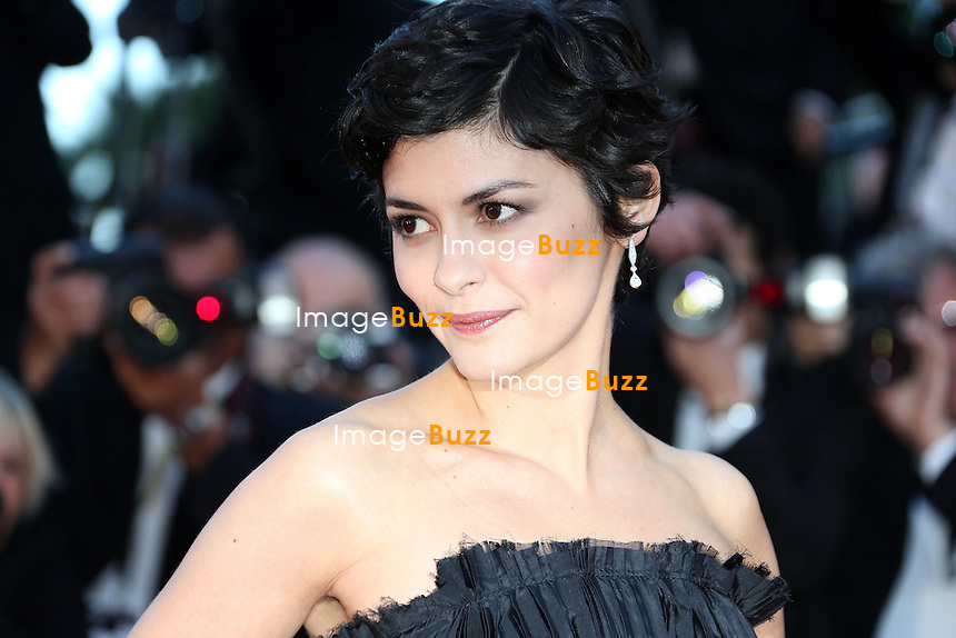 CPE/Audrey Tautou attends the 'La Venus A La Fourrure' premiere during The 66th Annual Cannes Film Festival at the Palais des Festivals on May 25, 2013 in Cannes, France.