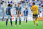 Stockholm 2014-07-07 Fotboll Allsvenskan Djurg&aring;rdens IF - IF Elfsborg :  <br /> Djurg&aring;rdens Haris Radetinac reagerar under matchen<br /> (Foto: Kenta J&ouml;nsson) Nyckelord:  Djurg&aring;rden DIF Tele2 Arena Elfsborg IFE arg f&ouml;rbannad ilsk ilsken sur tjurig angry