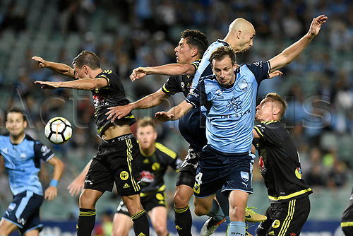 2nd February 2018, Allianz Stadium, Sydney, Australia; A League Football, Sydney FC versus Wellington Phoenix; Alex Wilkinson of Sydney