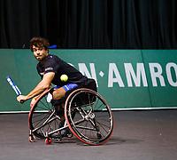 Rotterdam, The Netherlands, 12 Februari 2020, ABNAMRO World Tennis Tournament, Ahoy. Wheelchair: Daniel Caverzaschi (ESP). <br /> Photo: www.tennisimages.com