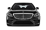Car photography straight front view of a 2018 Mercedes Benz S Class Base 4 Door Sedan