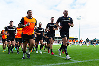 The Exeter Chiefs players leave the field at the end of the pre-match warm-up. Gallagher Premiership match, between Exeter Chiefs and Leicester Tigers on September 1, 2018 at Sandy Park in Exeter, England. Photo by: Patrick Khachfe / JMP