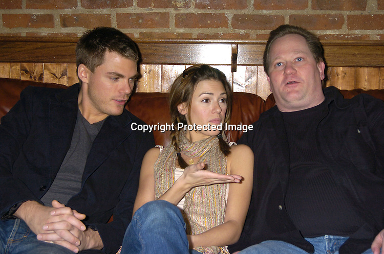 Jeff Branson, Elizabeth Hendrickson and Richie Byrne ..at a luncheon at The Town Tavern in New York City on ..January 29, 2005, with a portion of the  proceeds going to..support breast cancer research. ..Photo by Robin Platzer, Twin Images