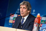 Manchester City Coach Manuel Pellegrini during press conference before Champions League 2015/2016 Semi-Finals vs Real Madrid CF. in Madrid. May 03, 2016. (ALTERPHOTOS/Borja B.Hojas)