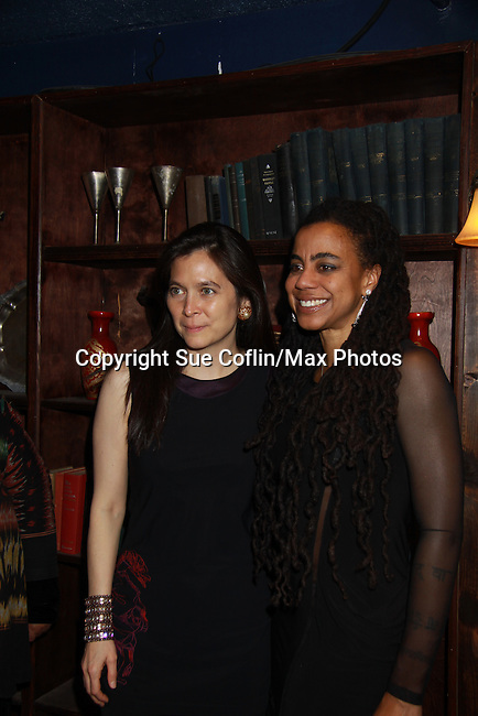 Diane Paulus (director) & Suzan-Lori Parks (playwright) at The Gershwins' Porgy and Bess on Opening Night - January 12, 1212 at the Richard Rogers Theatre, New York City, New York.  (Photo by Sue Coflin/Max Photos)