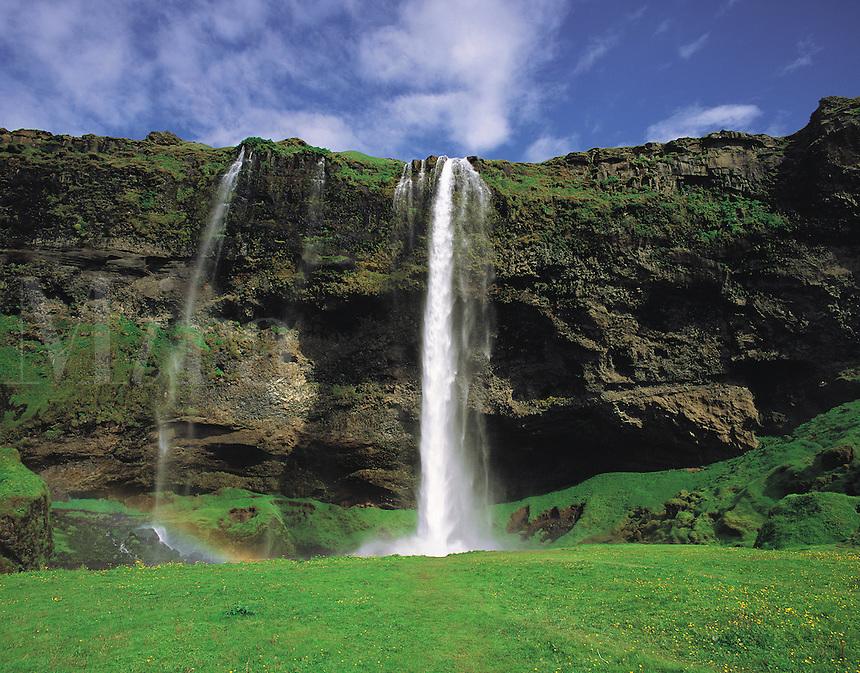 Seljalandsfoss waterfall near Porsmork, south-east Iceland