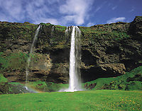 Seljalandsfoss waterfall near Porsmork, south-east Iceland