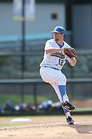 Grant Watson (12) of the UCLA Bruins pitches during a game against the Arizona Wildcats at Jackie Robinson Stadium on May 16, 2015 in Los Angeles, California. UCLA defeated Arizona, 6-0. (Larry Goren/Four Seam Images)