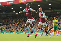 Wesley of Aston Villa in action celebrates scoring the opening goal during Norwich City vs Aston Villa, Premier League Football at Carrow Road on 5th October 2019