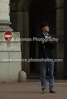 A City gent under Admiralty arch. <br /> <br /> <br /> Photo credit: Jeff Thomas - Jeff Thomas Photography - 07837 386244/07837 216676 - www.jaypics.photoshelter.com - thomastwotimes@live.co.uk