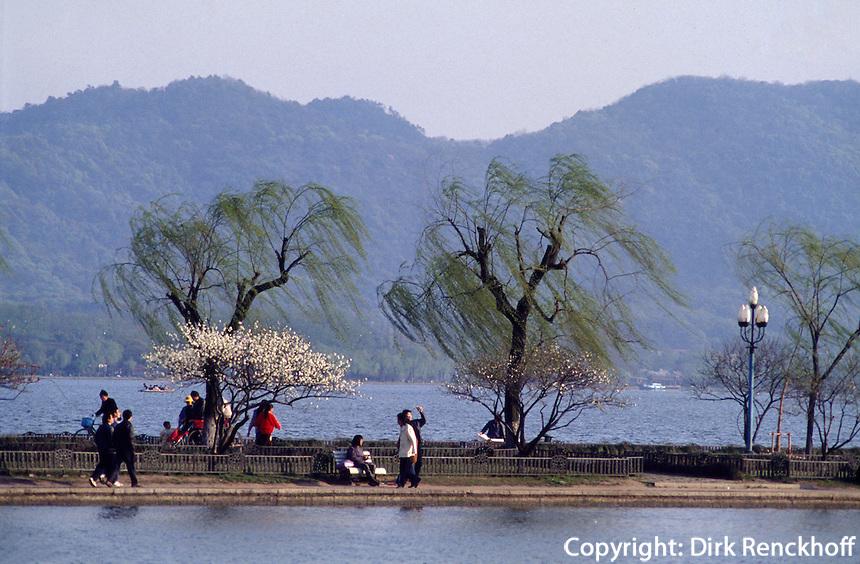 Bai Di-Damm am Westsee, Hangzhou, China, UNESCO-Weltkulturerbe