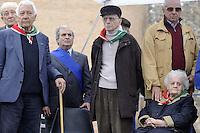 Roma 25 Aprile 2011.Porta San Paolo.Celebrazione per l'anniversario della  liberazione dal nazifascismo..Nella foto: Giovanna Marturano Donna Partigiana con altri Partigiani