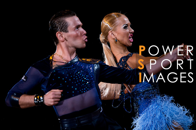 Armen Tsaturyan and Svetlana Gudyno of Russia during the WDSF GrandSlam Latin on the Day 1 of the WDSF GrandSlam Hong Kong 2014 on May 31, 2014 at the Queen Elizabeth Stadium Arena in Hong Kong, China. Photo by AItor Alcalde / Power Sport Images