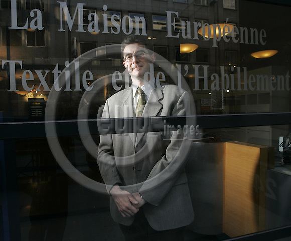 BRUSSELS - BELGIUM - 28 FEBRUARY 2005 -- Francesco MARCHI, Director of Economic Affairs at Euratex, the European Apparel and Textile Organisation. -- PHOTO: JUHA ROININEN / EUP-IMAGES.