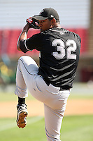 August 17 2008:  Pitcher Juan Ramirez (32) of the Wisconsin Timber Rattlers, Class-A affiliate of the Seattle Mariners, during a game at Philip B. Elfstrom Stadium in Geneva, IL.  Photo by:  Mike Janes/Four Seam Images