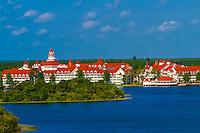 Grand Floridian Resort, Seven Seas Lagoon, Magic Kingdom, Walt Disney World, Orlando, Florida USA