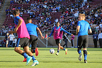 Stanford, CA - Saturday July 01, 2017: San Jose Earthquakes warmup, Cordell Cato during a Major League Soccer (MLS) match between the San Jose Earthquakes and the Los Angeles Galaxy at Stanford Stadium.