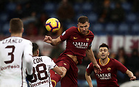 Football, Serie A: AS Roma - Torino, Olympic stadium, Rome, January 19, 2019. <br /> Roma's Edin Dzeko (c) in action during the Italian Serie A football match between AS Roma and Torino at Olympic stadium in Rome, on January 19, 2019.<br /> UPDATE IMAGES PRESS/Isabella Bonotto