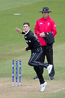 Mitchell Santner (New Zealand) in action during West Indies vs New Zealand, ICC World Cup Warm-Up Match Cricket at the Bristol County Ground on 28th May 2019