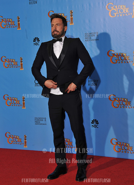 Ben Affleck at the 70th Golden Globe Awards at the Beverly Hilton Hotel..January 13, 2013  Beverly Hills, CA.Picture: Paul Smith / Featureflash