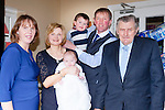 David Anthony O'Donoghue, Loughquittane, Killarney celebrates his christening with his parents Eileen and Hugh, big brother Michael and god parents Karen Healy and Dan Murphy and his extended family at the Kerry Way bar and restaurant on Saturday