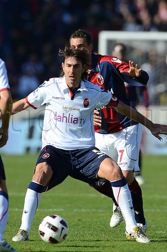 Daniele Conti (Cagliari), MARCH 6, 2011 - Football : Italian  Series A  match between Bologna 2-2 Cagliari at Renato Dall'Ara Stadium in Bologna, Italy.
