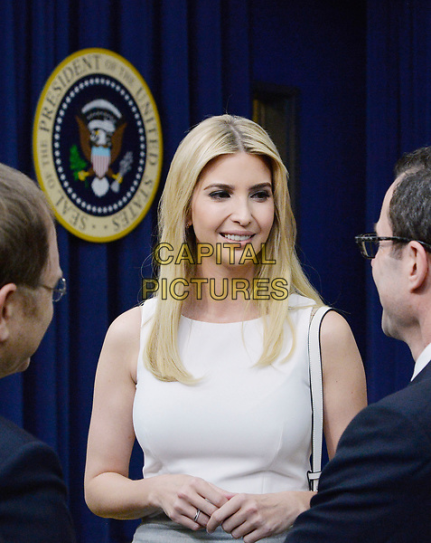 Ivanka Trump attends a CEO town hall on the American business climate in the South Court Auditorium of the White House in Washington, DC, April 4, 2017.<br /> CAP/MPI/CNP/RS<br /> &copy;RS/CNP/MPI/Capital Pictures