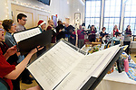 The Vernon Choral Singers perform Es ist ein Ros entsprungen, a Christmas carol of German origin that best translates Lo, How a Rose E'er Blooming, as they sung some very familiar songs as well, while performing at the Vernon Art Center,   Saturday, December, 16, 2017, in Vernon. (Jim Michaud / Journal Inquirer)
