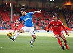 03.03.2019 Aberdeen v Rangers: Daniel Candeias and Max Lowe