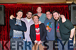 comedians Cormac O'Connor, Henry McCann, Steve Mills, Seamus Kelly, Anthony O'Riordan and Seamus Spillane at the Stand Up Comedy Show in the Abbey Inn Tralee on Friday