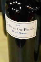 Chateau Les Fenals Cuvee Mathilde Chateau Les Fenals Fitou. Languedoc. France. Europe. Bottle.