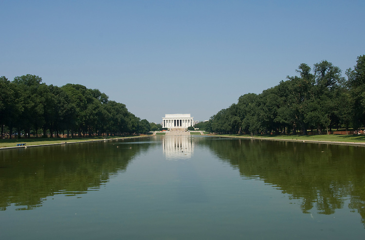 Washington DC; USA: The Reflecting Pool on the Mall, with the Lincoln Memorial in the background.Photo copyright Lee Foster Photo # 5-washdc83216.