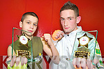 Dylan Scannell and Mike Henderson, Kingdom Warriors Thai Boxing club, who won their respective competitions in their Thai Kickboxing competition in Bandon.