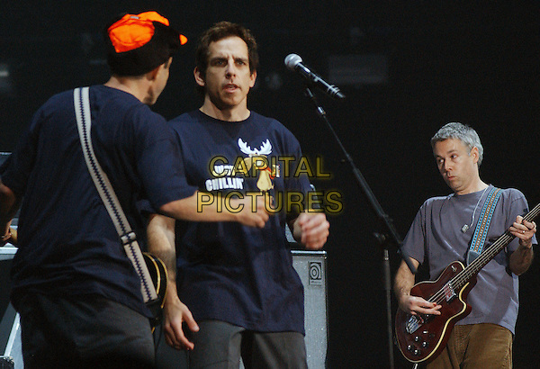 BEN STILLER & ADAM YAUCH of the BEASTIE BOYS .Beastie Boys Get Out And Vote 08 Tour held at the Chevrolet Centre, Youngstown, Ohio, USA, .29 October 2008..half length band live on stage concert  moose t-shirt music .CAP/ADM/JLN.©Jason L Nelson/Admedia/Capital Pictures